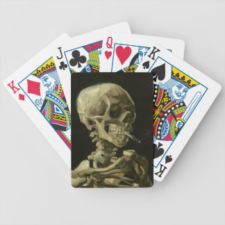 Playing Cards  skull smoking by van gogh