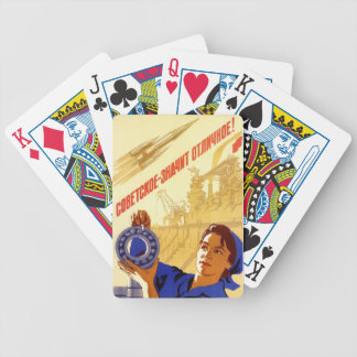 Playing Cards: Soviet space program propaganda Bicycle Playing Cards