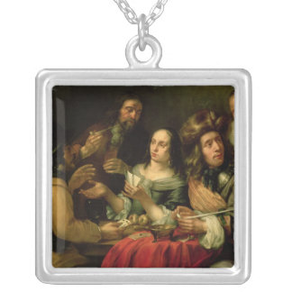 Playing Cards Square Pendant Necklace