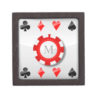 Playing Cards Suits Jewelry Box