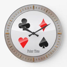 Playing Cards Suits Large Clock