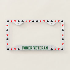 Playing Cards Suits License Plate Frame