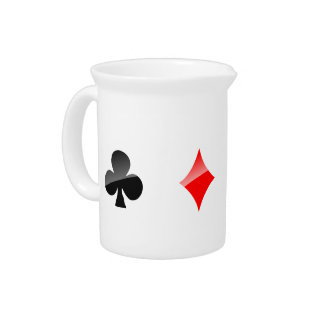Playing Cards Suits Pitcher