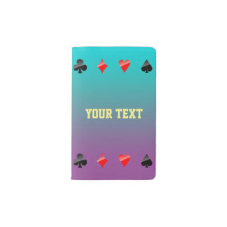 Playing Cards Suits Pocket Moleskine Notebook