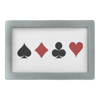 Playing Cards Suits Rectangular Belt Buckle