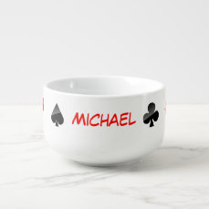 Playing Cards Suits Soup Mug