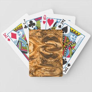 playing cards swirl design