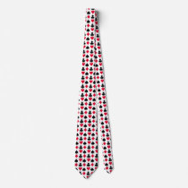 Playing cards symbols pattern neck tie