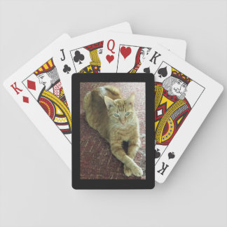 """Playing cards """"Tigger"""" the cat"""