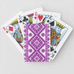 Playing Cards Ukrainian Cross Stitch Purple