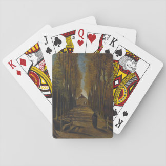 Playing cards van Gogh trees autumn