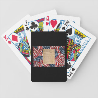 Playing Cards w/ American Flags / The Constitution