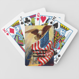 Playing Cards w/ Eagle Defending w/ The only