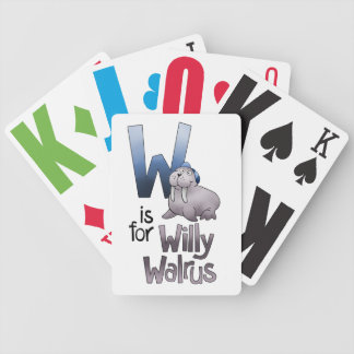 Playing Cards, W is for Willy Walrus Bicycle Playing Cards