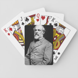 Playing cards with a portrait of Robert E. Lee