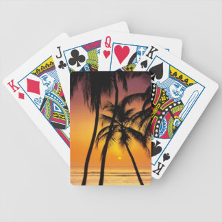 Playing cards with a tropical feel