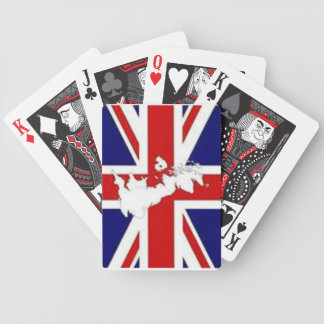 PLAYING CARDS WITH BRITISH FLAG