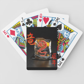 Playing Cards with Chinese Fire Dragon Deck Of Cards
