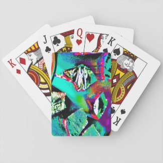 Playing Cards with Colorful Abstract Image