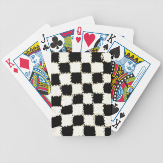 Playing Cards with Crocheted Checkered Style