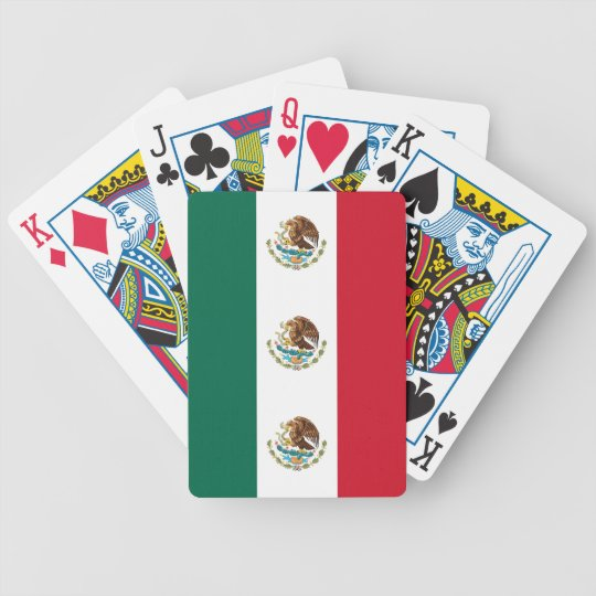 Playing Cards with Flag of Mexico
