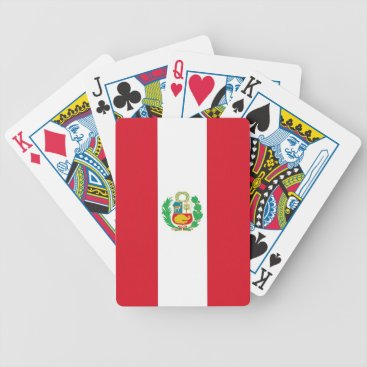 Playing Cards with Flag of Peru