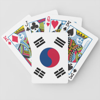 Playing Cards with Flag of South Korea