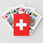 Playing Cards with Flag of Switzerland