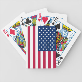 Playing Cards with Flag of U.S.A.
