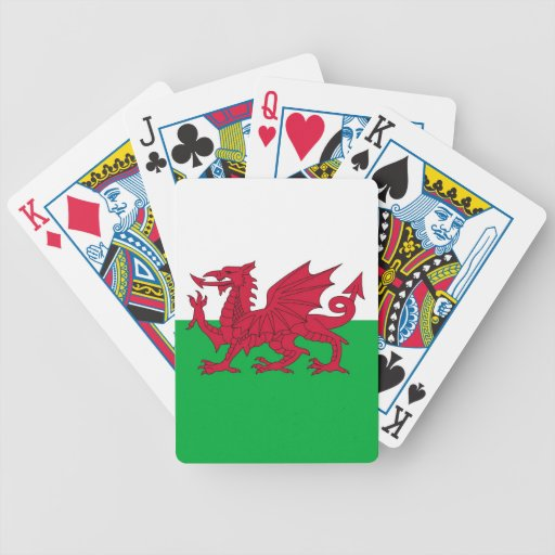 Playing Cards with Flag of Wales