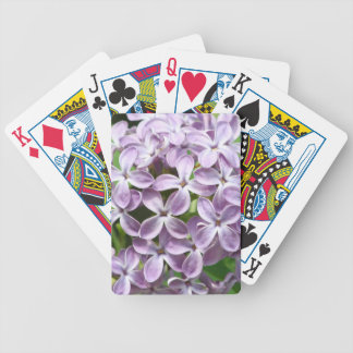 playing cards with photo of beautiful purple lilac