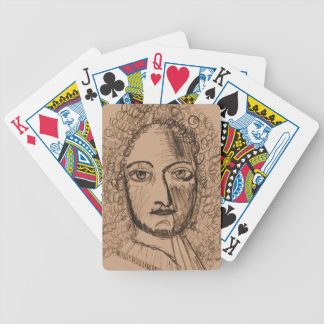 Playing Cards with Sepia Portrait