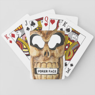Playing cards with skeleton skull
