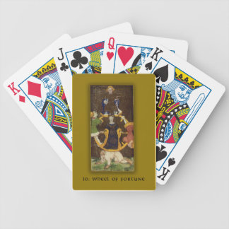 Playing Cards with Tarot Wheel of Fortune Image