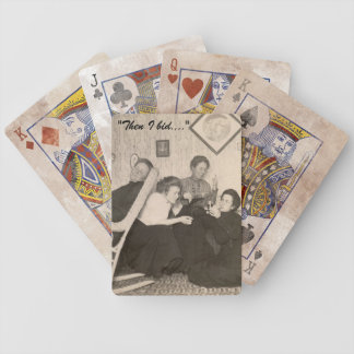 Playing Cards with Vintage Photo