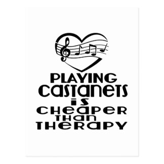 Playing Castanets Is Cheaper Than Therapy Postcard