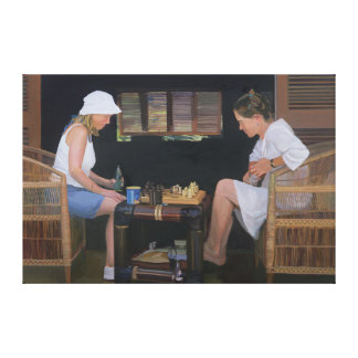 Playing Chess at Goldeneye Canvas Print