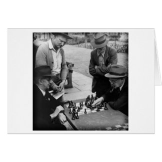 Playing Chess Card