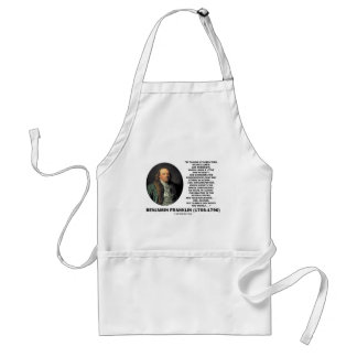 Playing Chess Caution Benjamin Franklin Quote Adult Apron