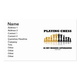 Playing Chess Is My Modus Operandi Business Card Templates