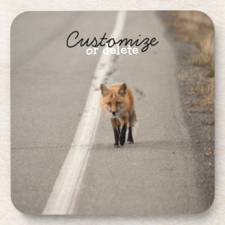 Playing Chicken with a Fox; Customizable Beverage Coaster