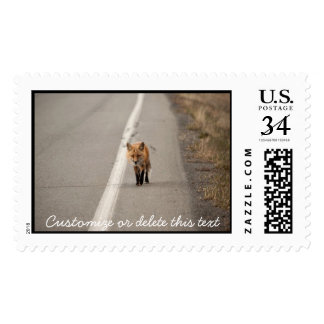Playing Chicken with a Fox; Customizable Postage