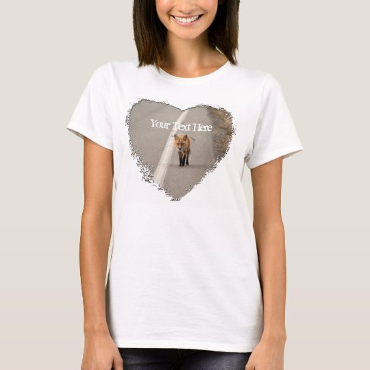 Playing Chicken with a Fox; Customizable T-Shirt