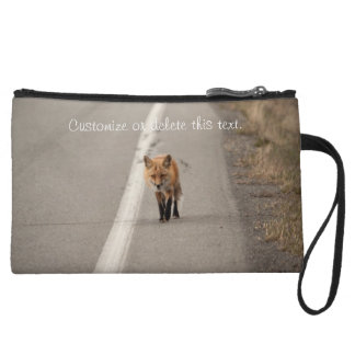 Playing Chicken with a Fox; Customizable Wristlet Purse