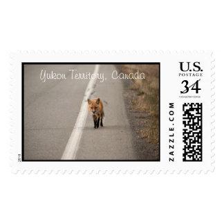 Playing Chicken with a Fox; Yukon Souvenir Postage