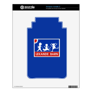 Playing Children, Traffic Sign, Sweden Kindle Decals