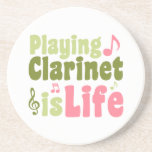 Playing Clarinet is Life Drink Coaster