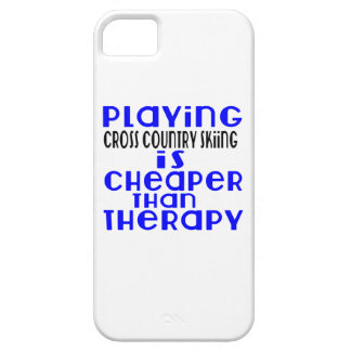 Playing Cross Country Skiing Cheaper Than Therapy iPhone SE/5/5s Case