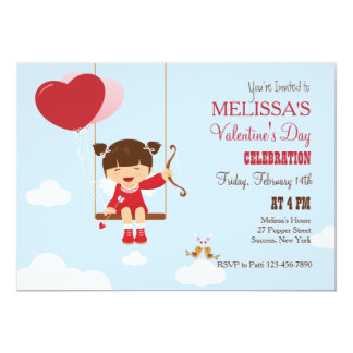 Playing Cupid Valentine's Party Invitation