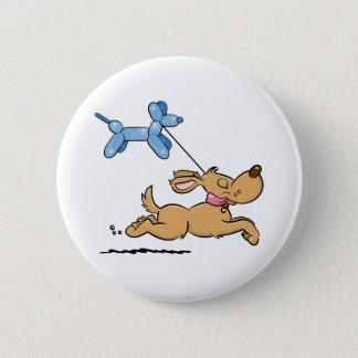 Playing Dog Pinback Button